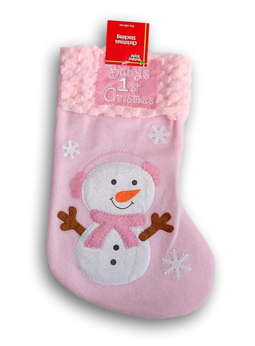 get quotations babys first christmas stocking 85 x - Girl Christmas Stocking
