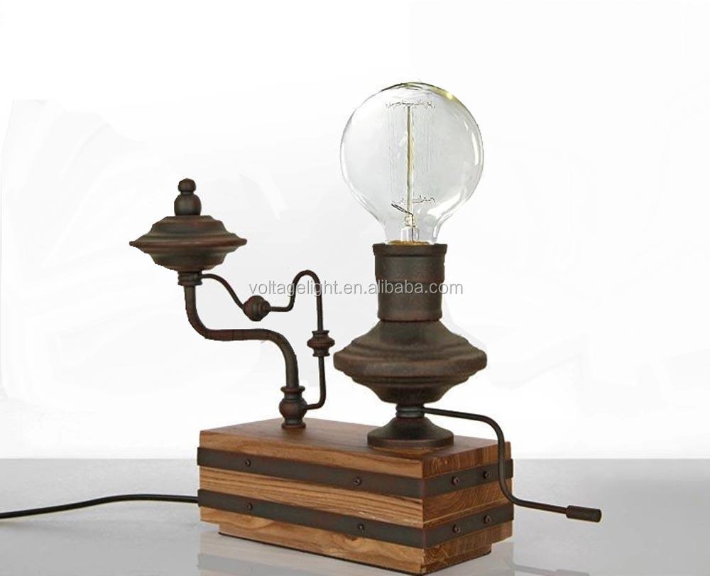 Vintage Retro Metal Decoration Desk Lamp Edison Light Bulb
