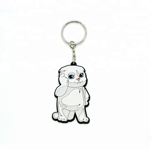 Promotion custom rubber soft pvc keychain from China maker