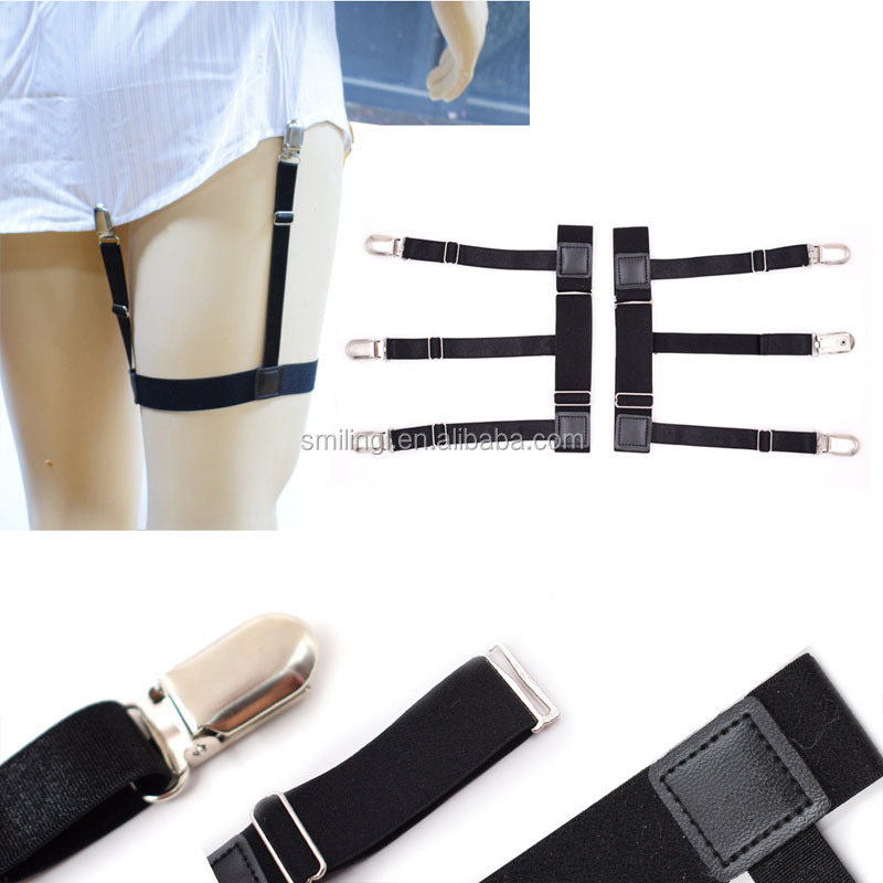 Apparel Accessories Just Men Suspenders Bretels Elastic Suspenders Men Shirt Stays Garters Adjustable Non-slip Shirt Holders Leg Belt Anti-wrinkle Braces Men's Suspenders