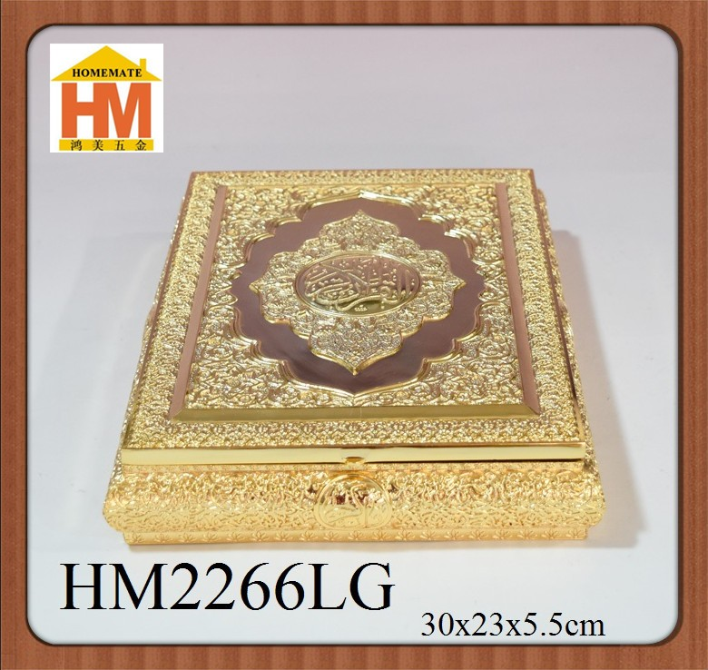 Sliver plated metal zinc alloy muslim quran box/bible box with stand Middle East countries wedding favor
