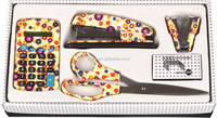 New product office stationery 4 pieces floral promotional stationery set