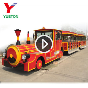 Best Quality Fiberglass Shell Outdoor Tourist Diesel Road Train For Sale