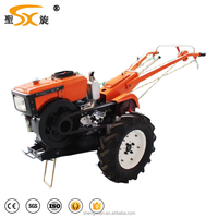 Hot sale newest multifunctional 12hp 2 wheel chinese walking micro hand tractor