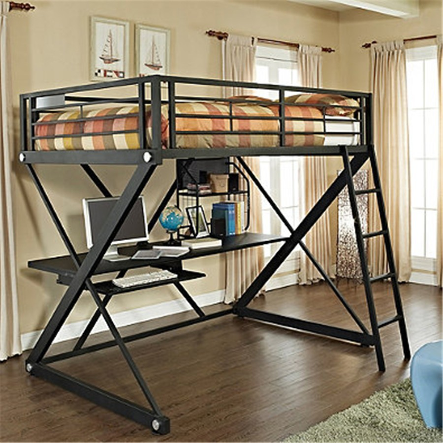 pas cher z chambre cadre m tallique enfants tude loft. Black Bedroom Furniture Sets. Home Design Ideas