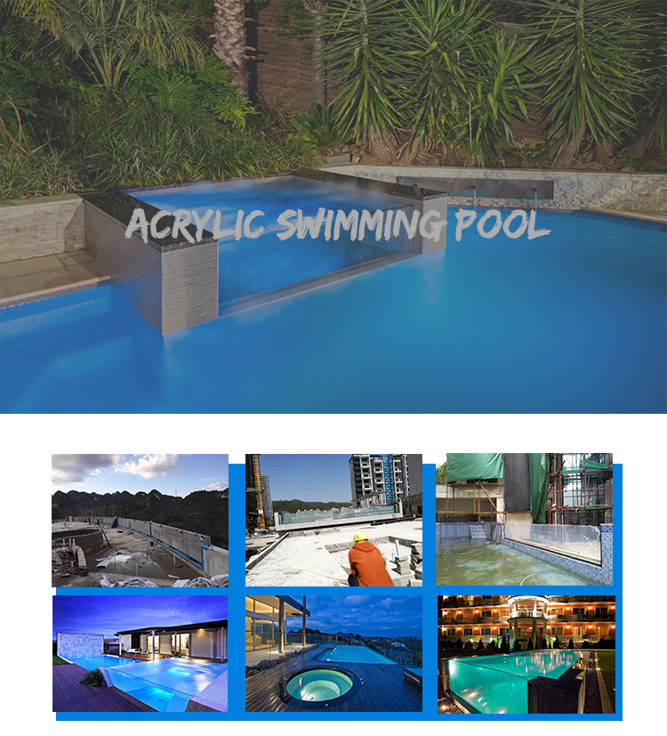 High Quality Customized Thick Acrylic Glass Window Swimming Pool