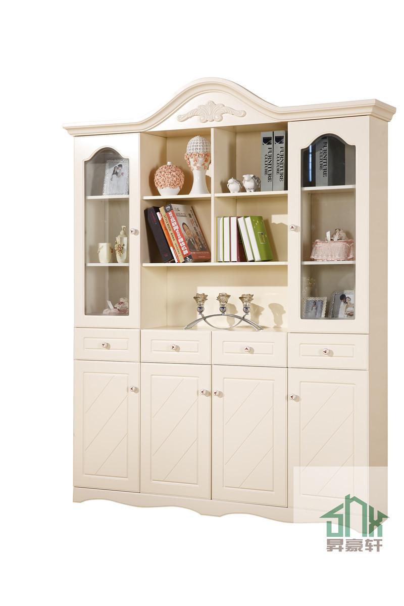 blanco antiguo estantera con puertas de cristal hac diseo en estantera gabinete de