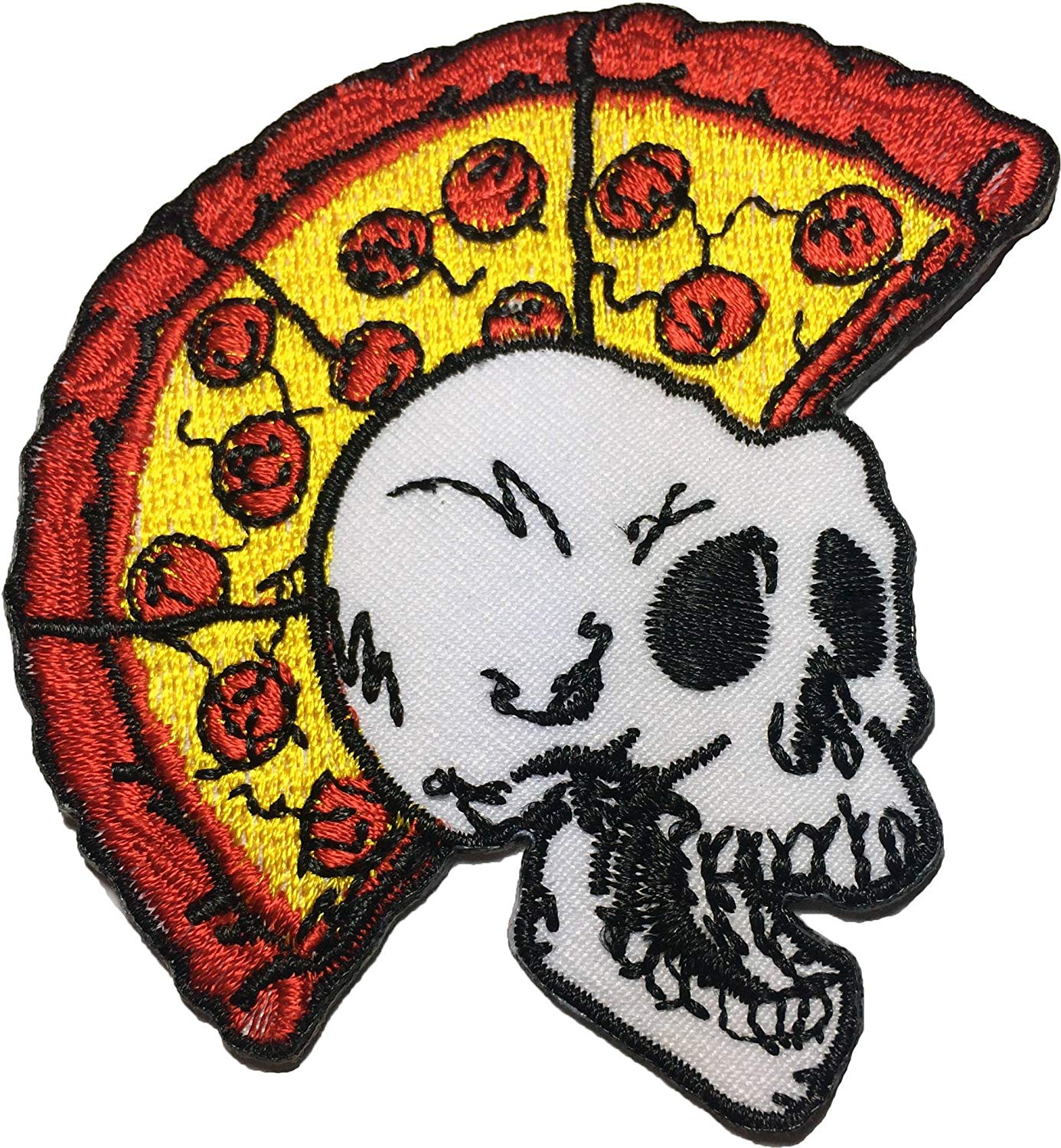 Skull Tattoo Biker Horror Goth Punk EMO Rock Iron-on Embroidered Patch Backpack