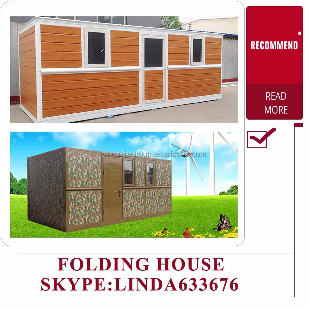 prefab modern vacation folding house for sale