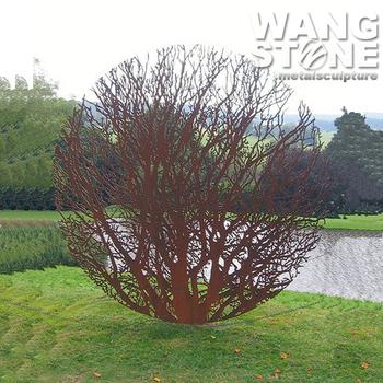 Corten steel garden art rusty metal tree sculpture buy for Decoration jardin metal