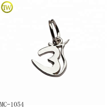 Custom engraved logo pendant 3d metal charms tags for baby bracelet