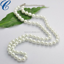 CZX1702139 Jewelry Sets Women Wedding Dress Accessories Long Pendant Necklaces White Round Beads Ornament