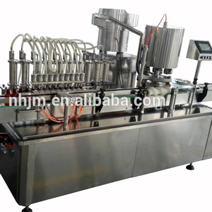 Hot sale glass and plastic bottle automatic liquid filling machine