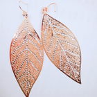 Europe and the United States popular simple forest leaf diamond earrings wholesale