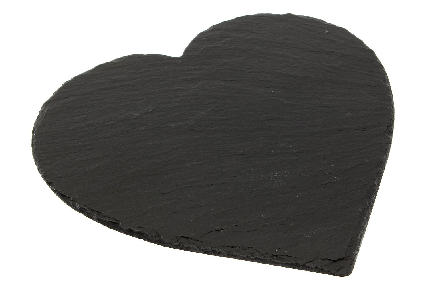 The Just Slate Company Heart-Shaped Natural Slate Place Mat, 9.75 x 9.75-Inch, Set of 2