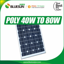 Best pv solar panel 40 w polycrystalline with good quality