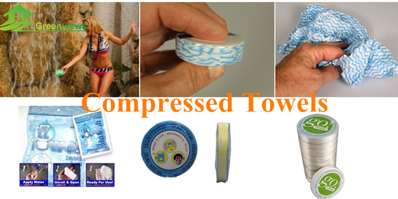 Aqua tissue & compressed hand magic towel outdoor travel compressed towel softtextile magic towels
