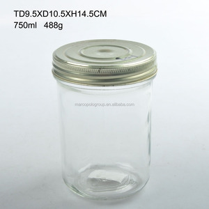 More cost-effective diverse glass mason jar bottle with screw metal lid for honey jam storage