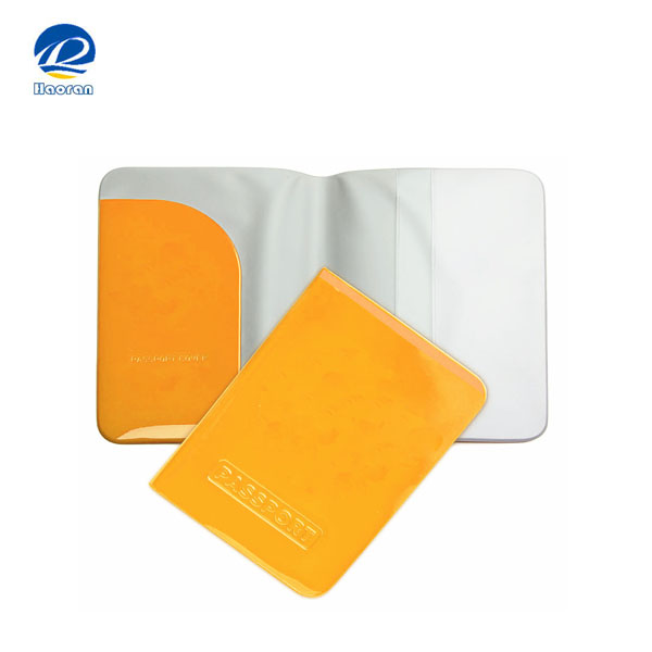Factory Plastic passport cover, PVC passport holder wallet for travel agency promotion