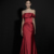 Guangzhou wholesale off-shoulder stain evening dress formal long red dress evening