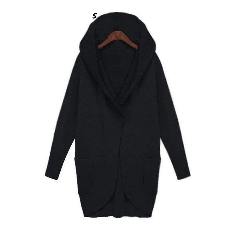 Joddie Haha Sweatshirts Coat Casual Pockets Zipper Outerwear Hoodies Jacket Plus Size S-5XL Long Hooded