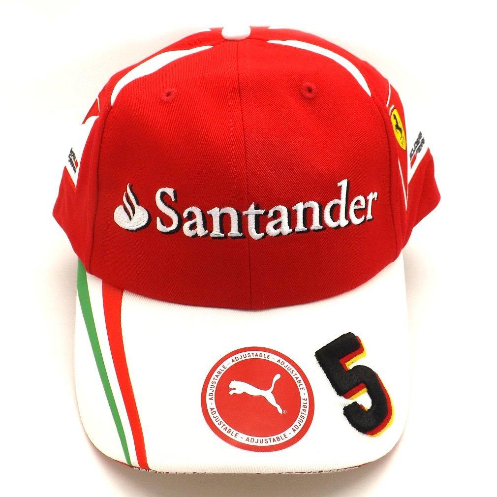 Get Quotations · Ferrari F1 Racing Replica SF Vettel 5 Puma Baseball Cap Red  Official 2016 577a9be1826b