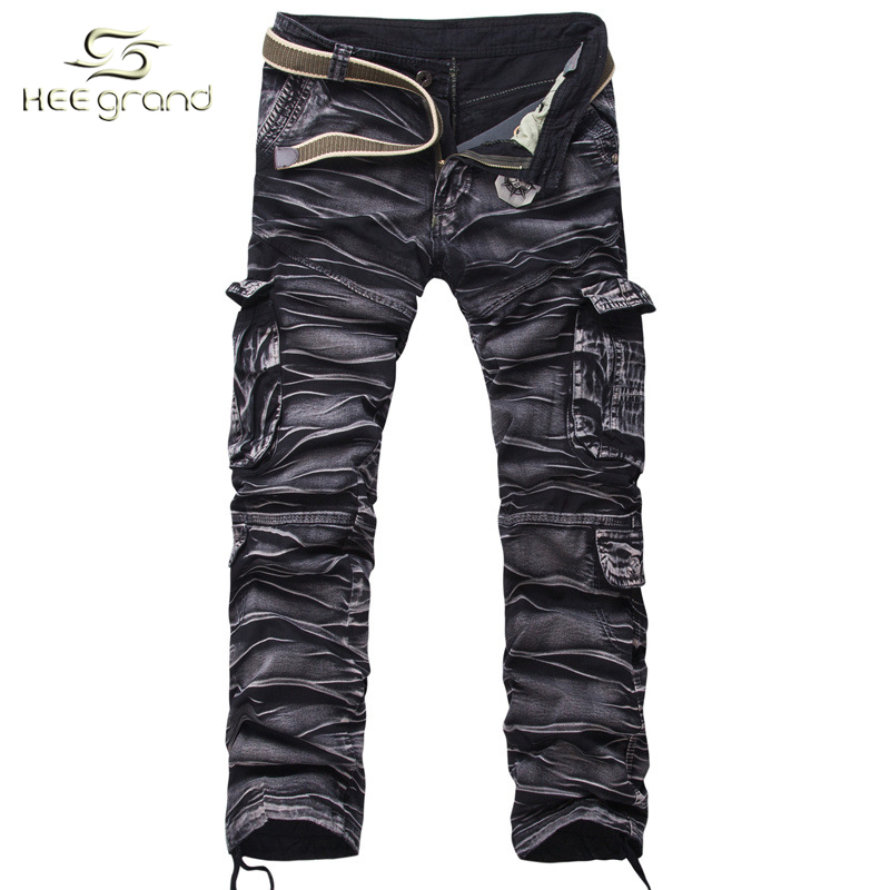 78d5d260e84 Get Quotations · Joggers Pants 2015 New Men Casual Cargo pants Hip Pop  Sport Trousers Military Pantalon Homme Seven