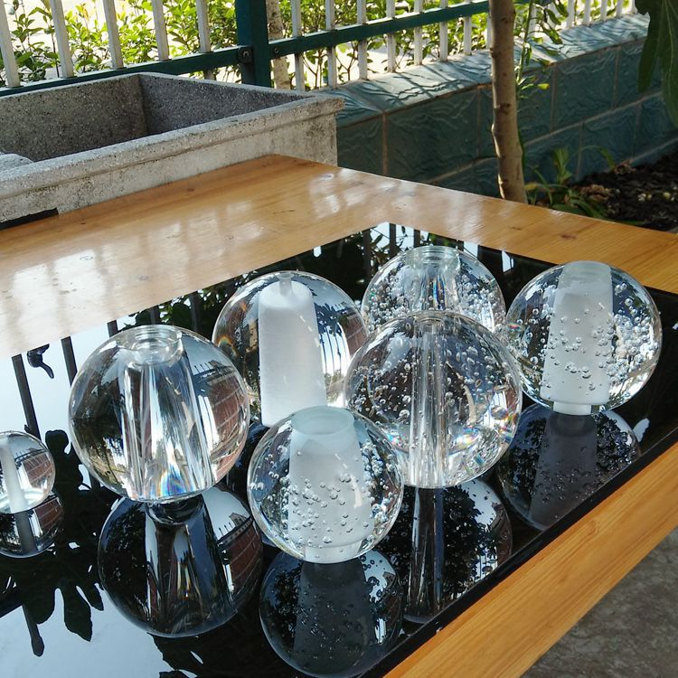 Chinese suppliers Clear crystal ball chandelier 20mm 40mm 60mm 80mm 100mm k9 glass Drilled crystal ball with hole