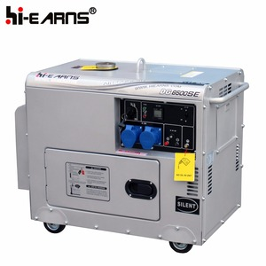 6KVA silver small digital panel single phase united power generator