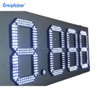 waterproof gas price digital sign 7 segment outdoor LED number display sign board