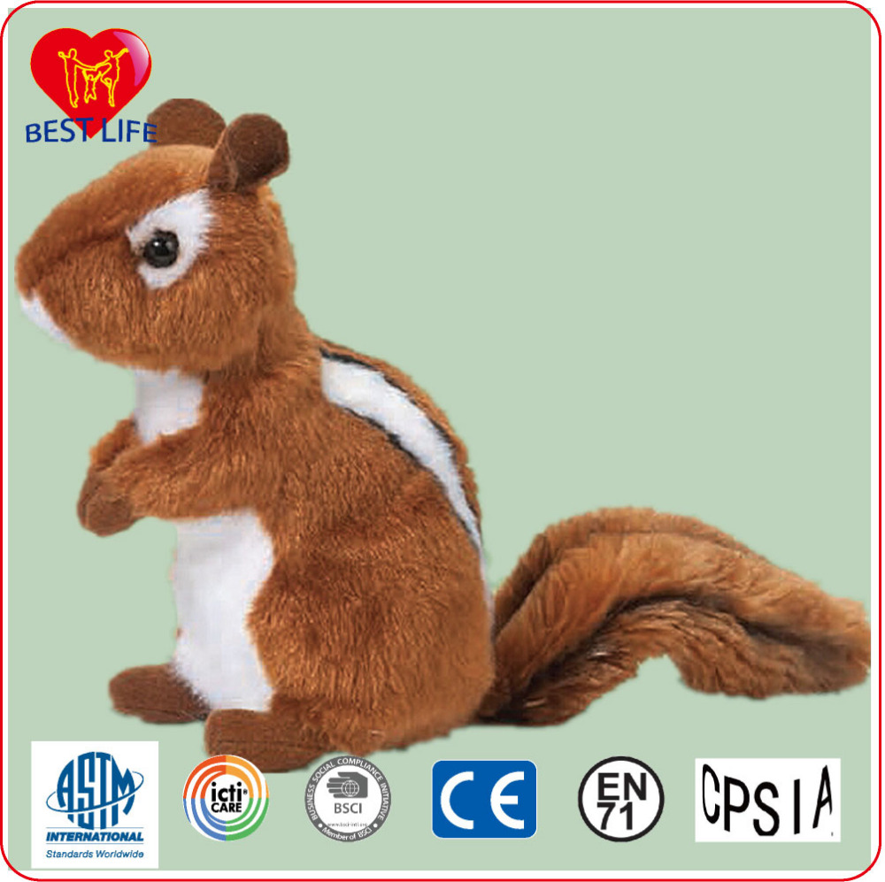 (PTAL0816158) Hot sale imitative animal squirrel plush toy, soft plush squirrel doll toy