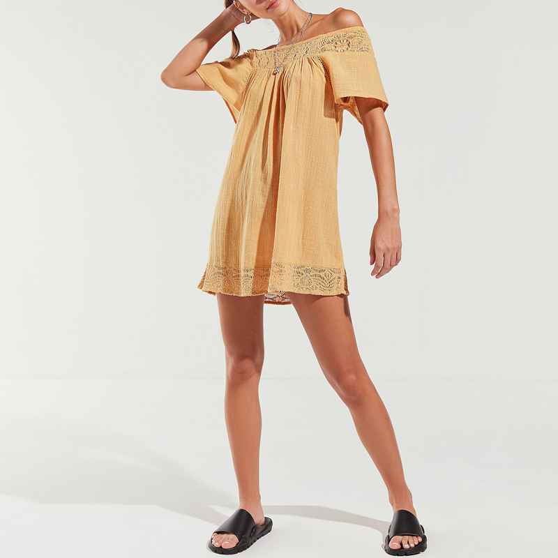 Indiana Style Summer Woman Clothing Mini Linen Sexy Dress