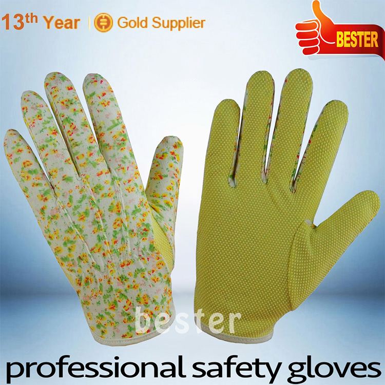 New coming Reliable Quality pvc safety cotton hosiery hand gloves