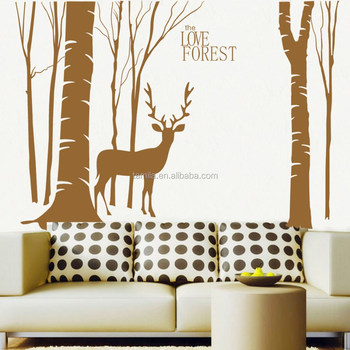 Bon Self Adhesive Love Forest Deer Wall Art Sticker
