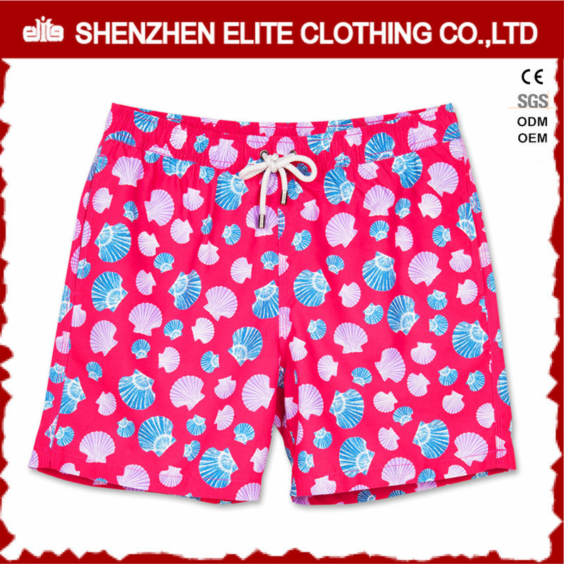 custom sublimation printed women pink running sports shorts fitness