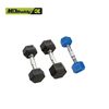 hot sale rubber coated fixed hexagonal dumbbell