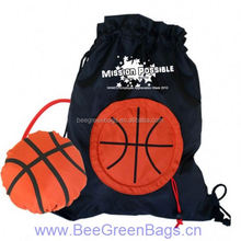 Hot basketball 190T Polyester sports drawstring backpack bag