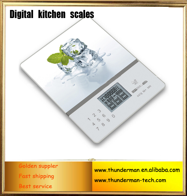Calorie digital kitchen scales with 999 food codes display Nutrition <strong>balance</strong>