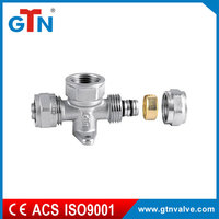 Factory forged pipe wallplate fittings cheap ART010N-B brass tee fitting