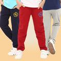 Boy pants 100 160cm spring autumn cotton boy trousers children Sweatpants 6 12years kids sports casual