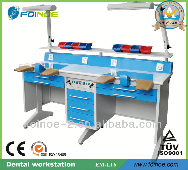EM-LT6 Double Dental lab Workstation for laboratory with CE
