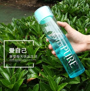 BPA free high quality glass water bottle Private Label Frosted Diamond Lid Sports gym Bottle Glass Water Bottle