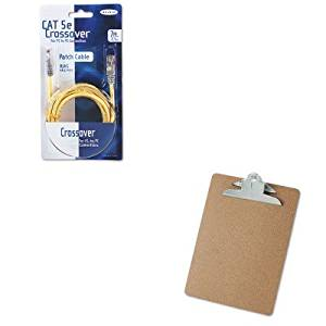 KITBLKA3X12607YLWMUNV40304 - Value Kit - Belkin CAT5e Crossover Patch Cable (BLKA3X12607YLWM) and Universal 40304 Letter Size Clipboards (UNV40304)