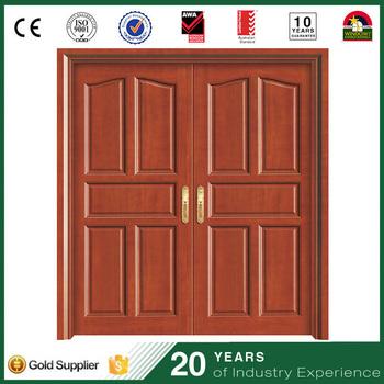 Interior Solid Wood Two Leaves Door Double Leaf Wooden Entry Door
