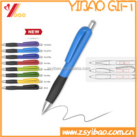 Wholesale colorful coustom print logo promotional plastic ball pen