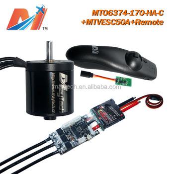 Maytech 6374 170kv 60mm Big Rc Brushless Motor And Super Esc Based Vesc  Motor Controller And Wireless Controller For Skat(3pcs) - Buy 6374 170kv  60mm