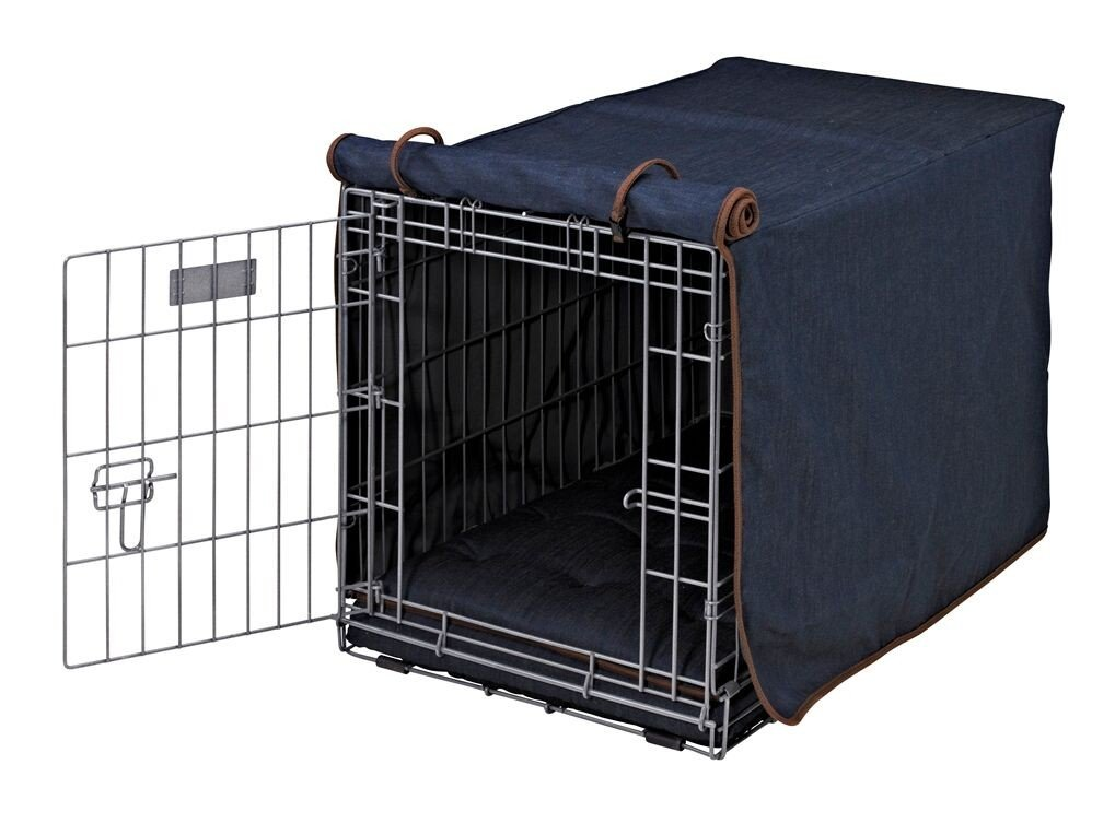 "Luxury Dog Crate Cover Size: Small (19"" H x 18"" W x 24"" D), Color: Denim"