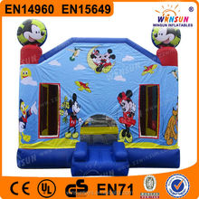Newest cartoon durable PVC inflatable castle mickey mouse