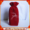 Custom Made Cheap Hot Sale Red Christmas Bottle Bag