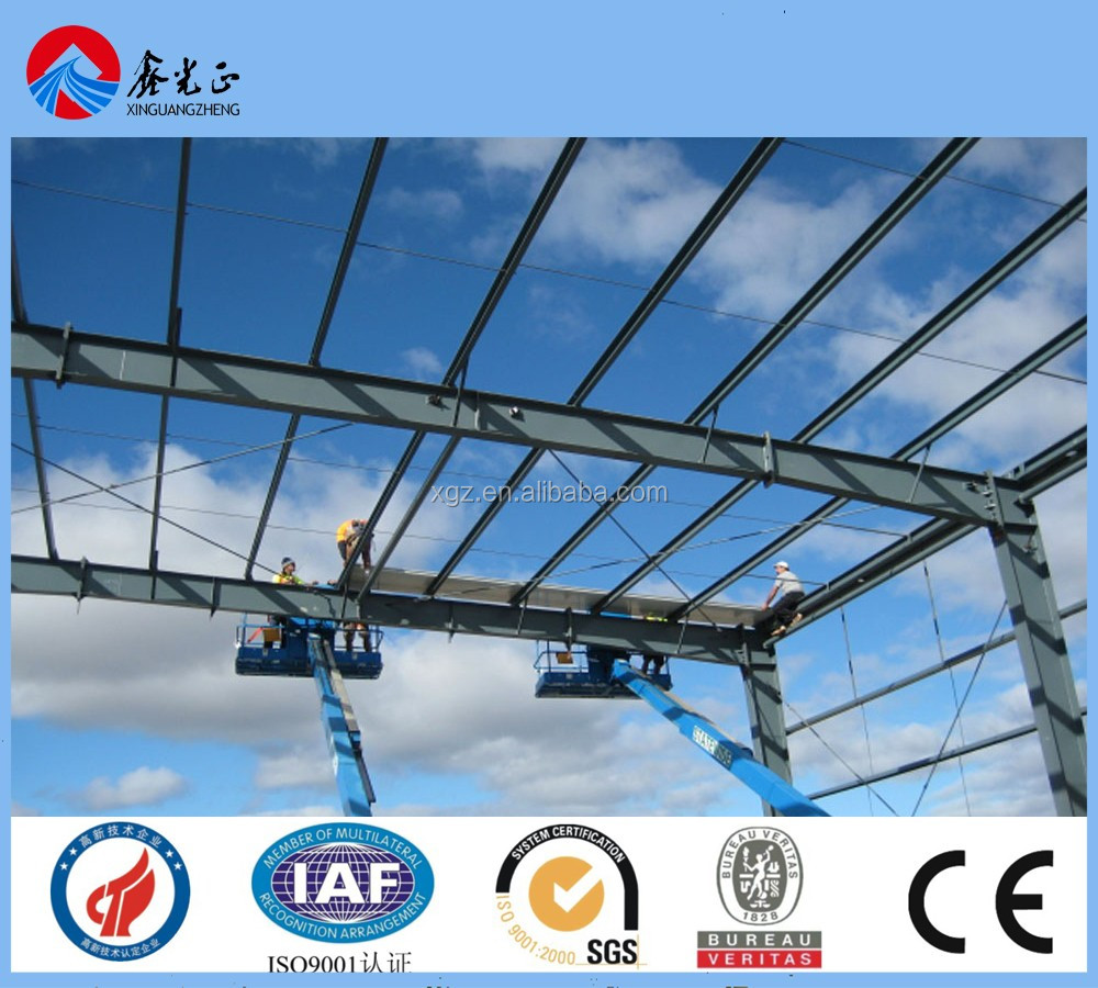 XGZ light weight steel structure frame manufacturer in Qingdao China